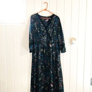 Banana Republic Maxi dress, long sleeved floral
